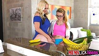 High schooler darling Haley joins milf Alena in a lesbian sex