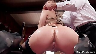 Milf and babe in orgy bdsm party sex