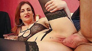 LA NOVICE - French MILF newbie Missy Charme gets cum on tits after dirty anal sex