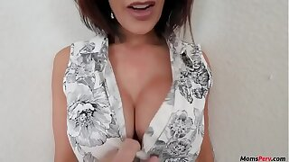 Son gets best of his hot milf mom!
