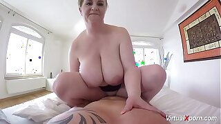hot POV sex with busty stepmom