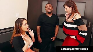 Hot Big Boobed Milf Sara Jay Fixes Grades For Big Black Cock