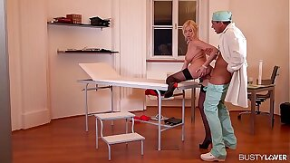 Busty lovers get to see top-heavy big butt slut Donna Bell fucked by Doc