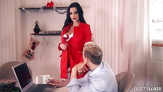 Busty bomshell Aletta Ocean gets her pussy and asshole fucked by two studs