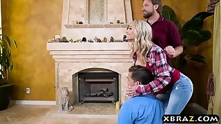 Uncontrollable sexbeast stepmom and stepson fuck anal