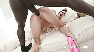 Blackbusters 5on1 with Kacie Castle Balls Deep Anal / DAP / Gapes / Crampie Swallow GIO880