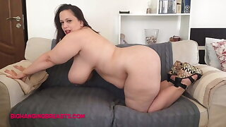 Romanian BBW with huge tits and plush body