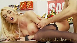 Stacey Saran get fucked in a shop