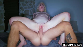 TUSHYRAW, Blonde MILF craves anal all day and night