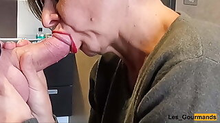 Blowjob Swallow with lipstick