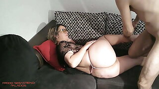 Milf mother in the ass two cumshots