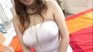 Busty Waka Sato enjoys cock in her tight holes