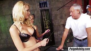 Paige Ashley in bdsm fourway with hot girlfriend Chloe Conrad