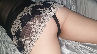 Wife riding cock hard in her sexy nighty